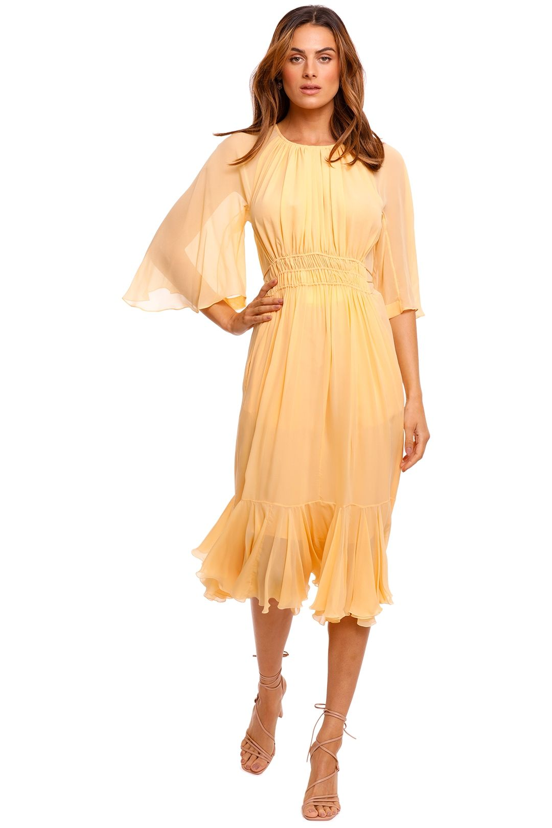 KITX Georgette Dress yellow