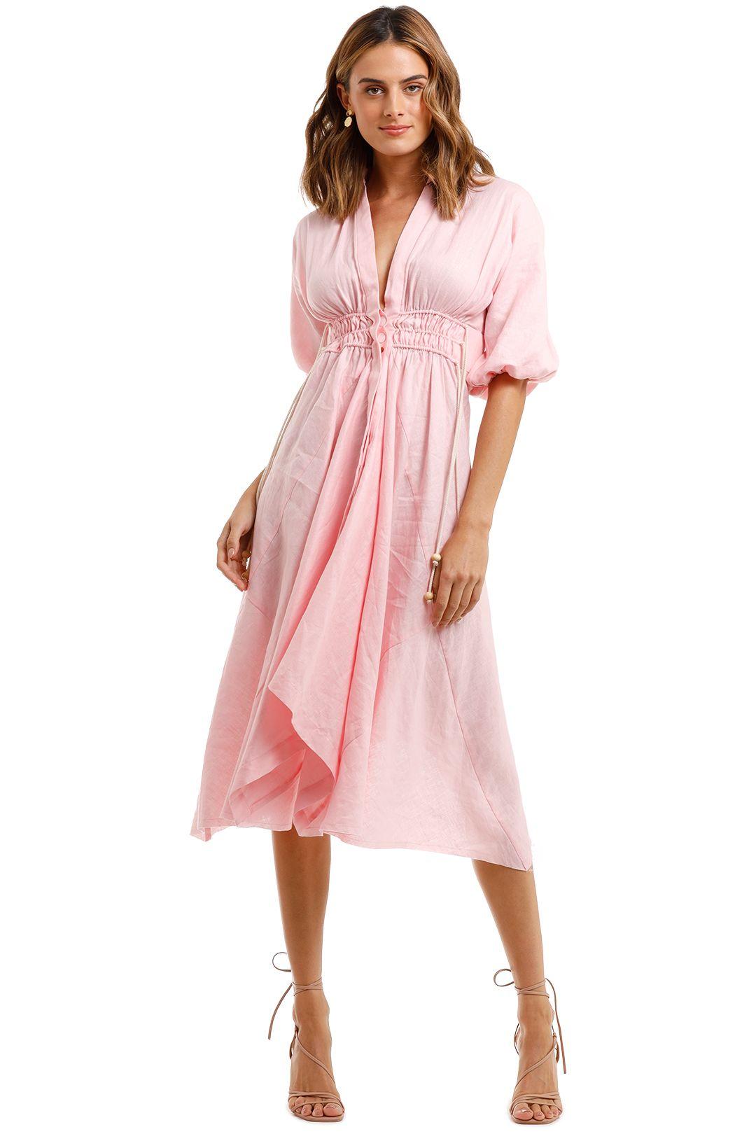 KITX Hemp Is Future Dress Pink v neck