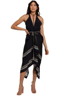 KITX Lady Boss Scarf Puzzle Dress midi
