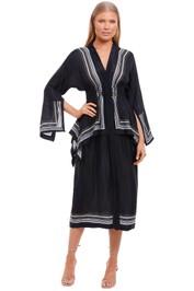 KITX Lady Boss Scarf Shirt Dress