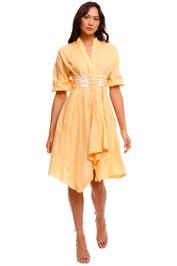 KITX Linen Corset Mini Dress orange