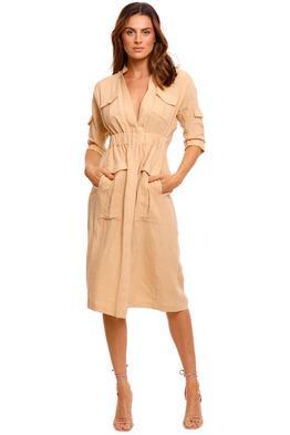 KITX Linen Natural Safari Dress