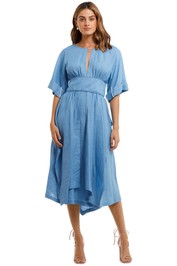 KITX Localised Blue Linen Midi Dress