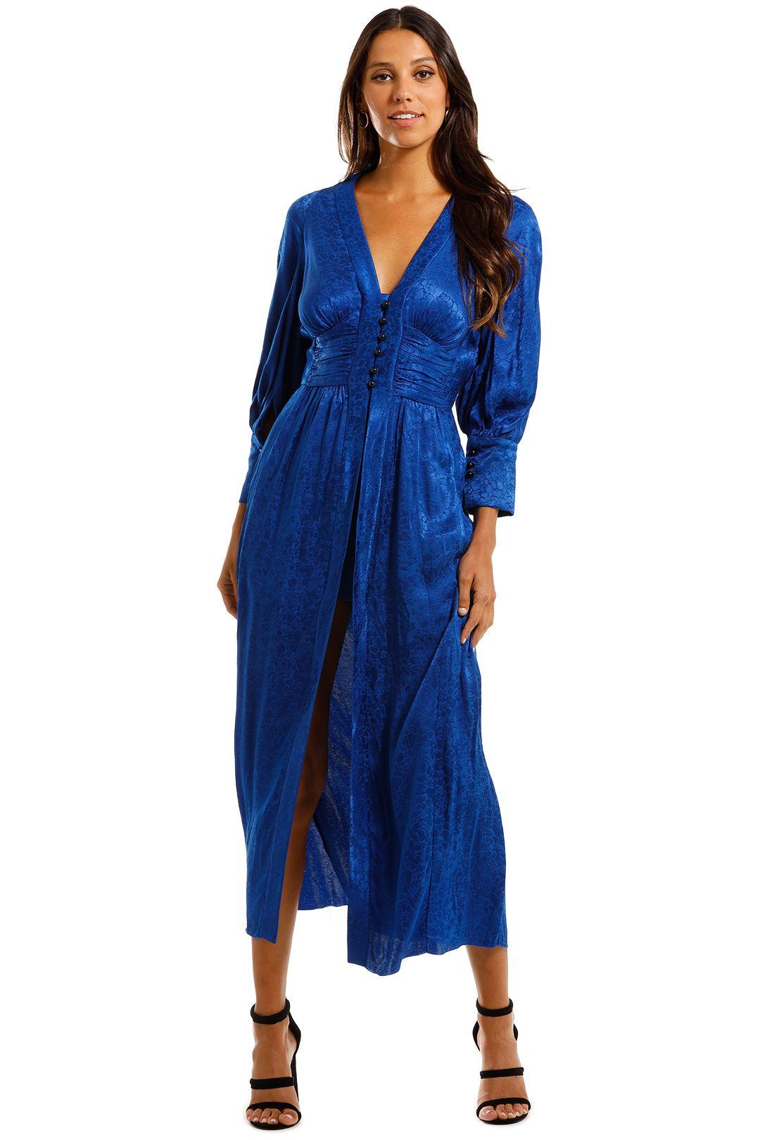 KITX Slinky Dress Blue Maxi Dress