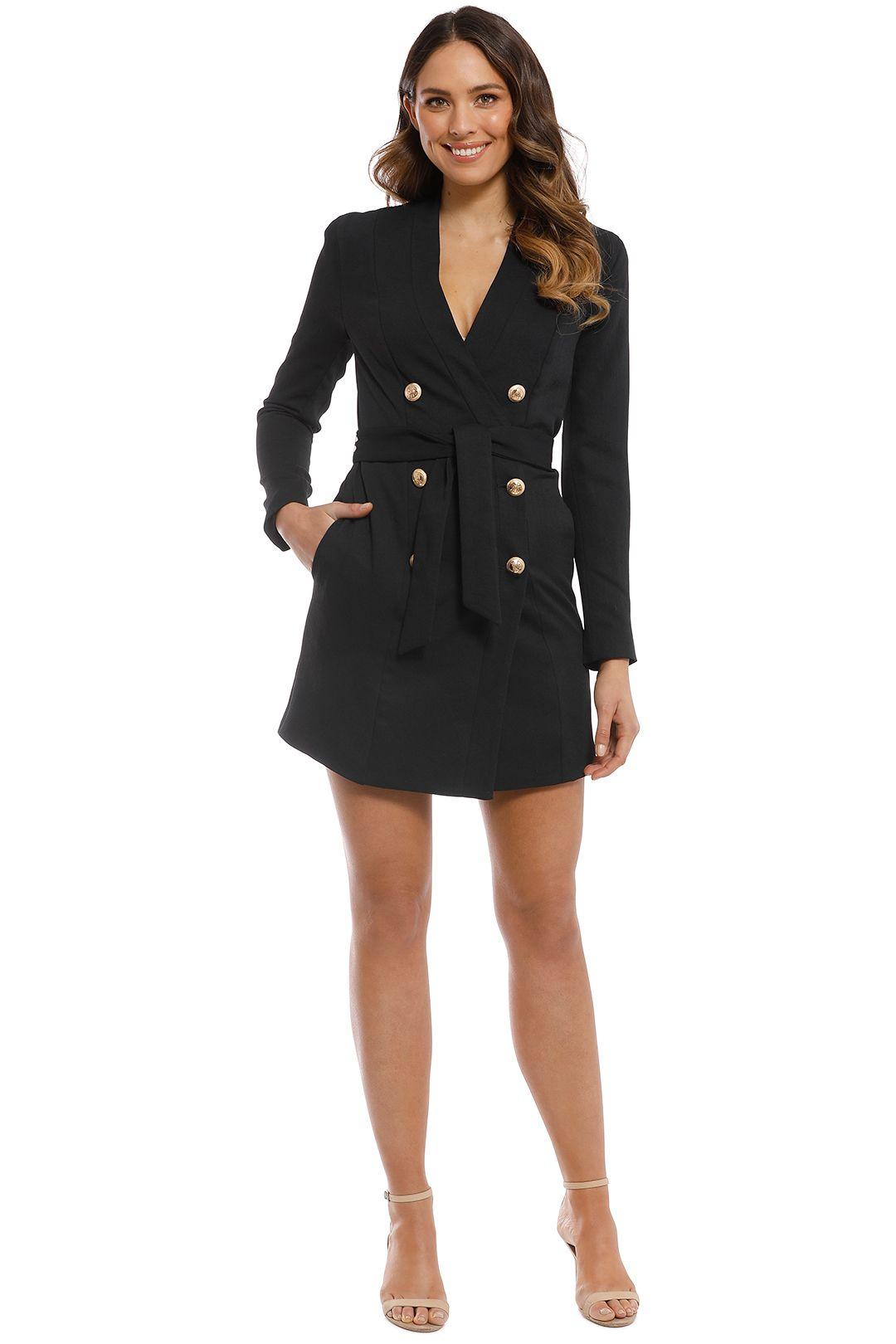 Kookai - Edwina Blazer Dress - Black - Front