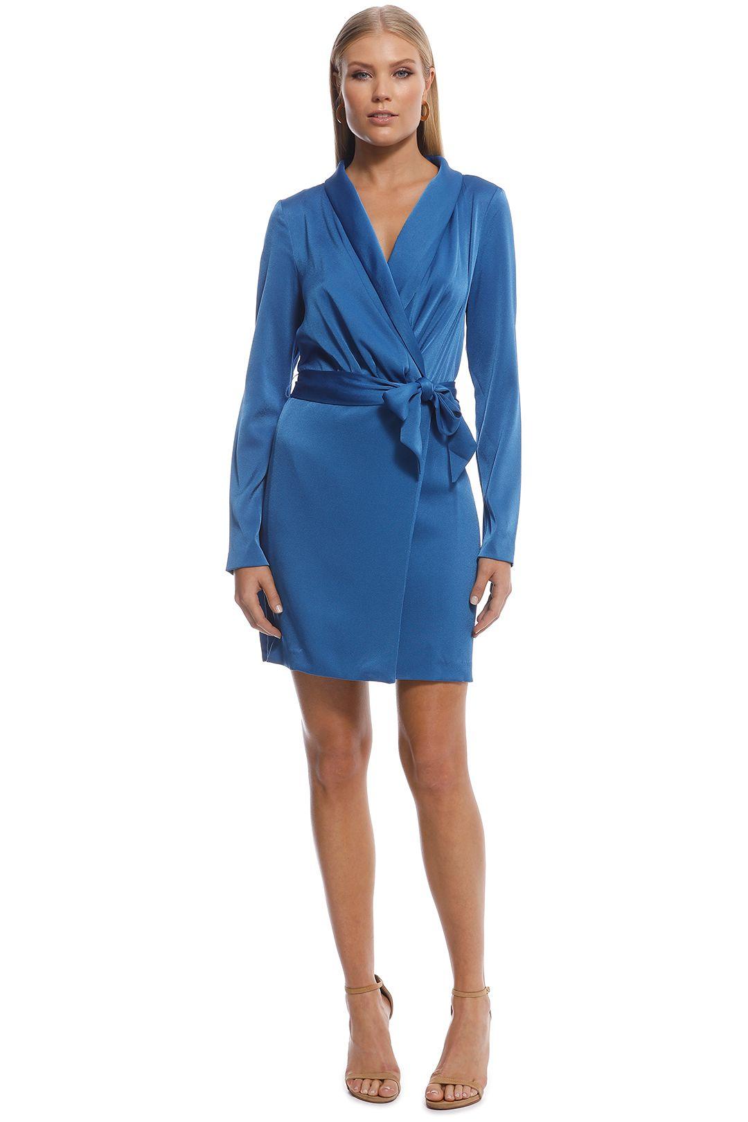 Kookai - Majestic Wrap Dress - Blue - Front