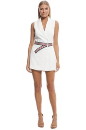 Kookai - Ribbon Sleeveless Playsuit - White - Front