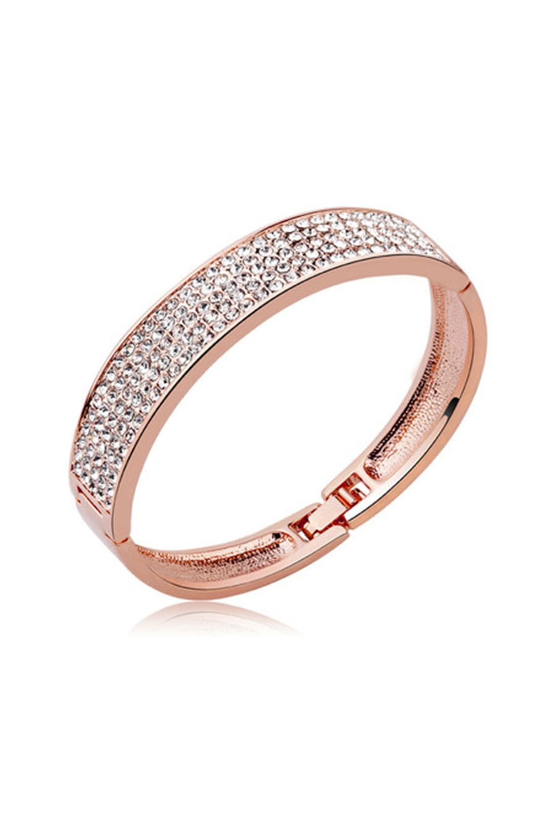 Krystal Couture - Classic Bangle - Rose Gold - Side