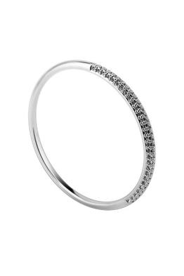 Krystal Couture - Everest Slimline Bangle - Silver - Side