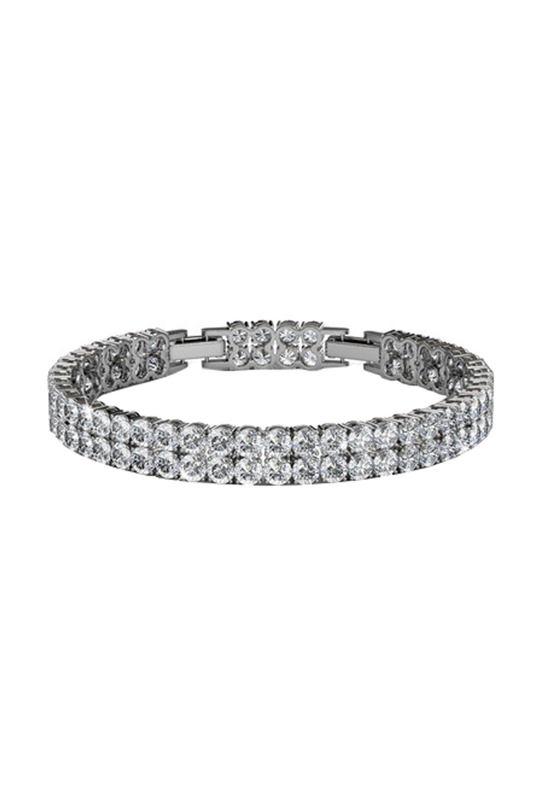 Krystal Couture - Jubilee Bracelet - Silver - Front