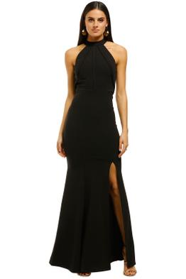 L'amour-High-Neck-Scuba-Crepe-Black-Front