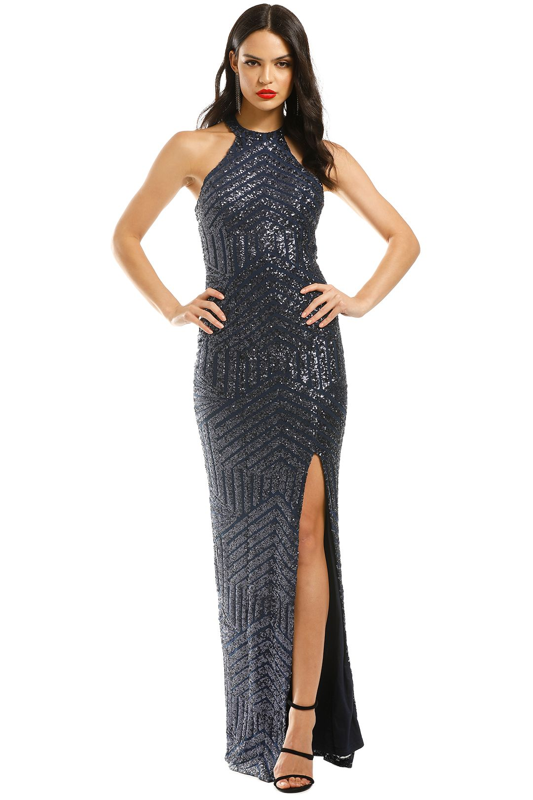 Langhem-Julia-Evening-Gown-Navy-Front