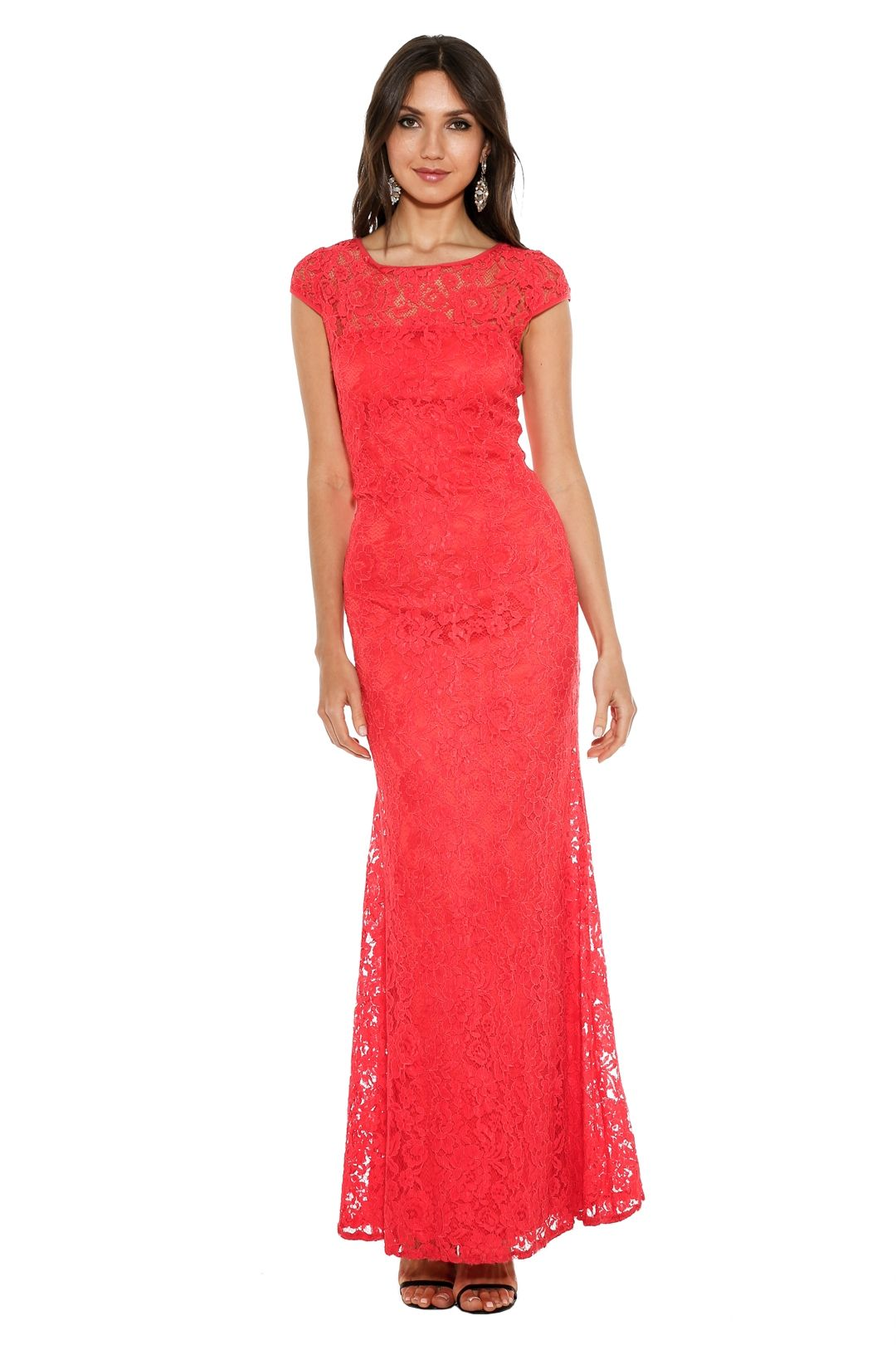 Langhem - Elisa Formal Gown - Red - Front