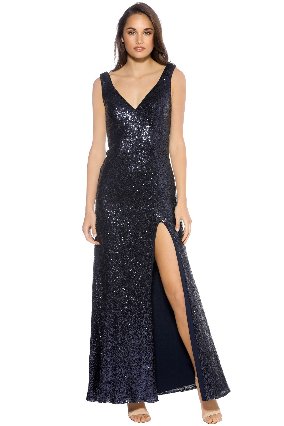 Langhem - Love on Top Navy Gown - Navy - Front
