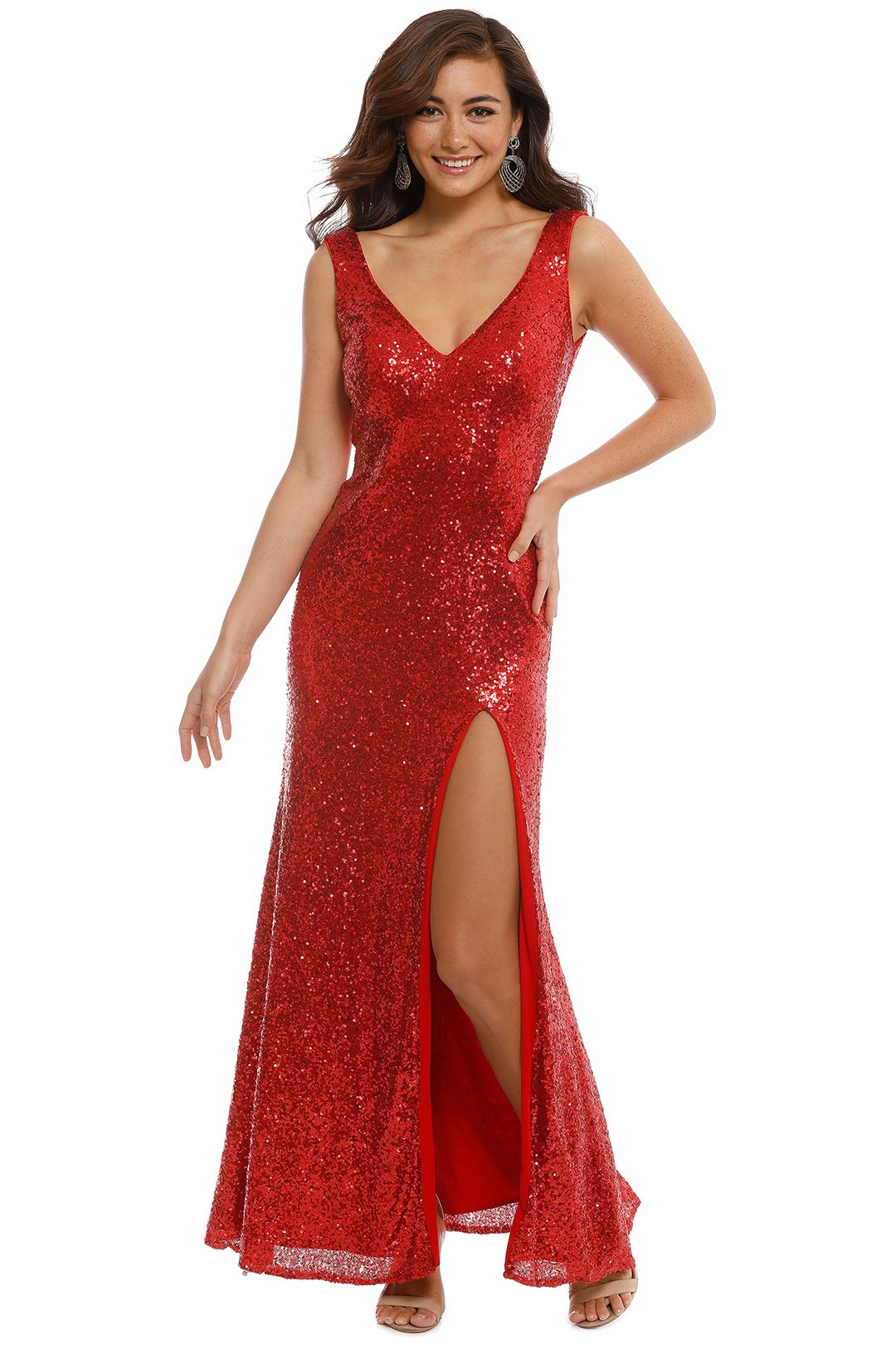 Langhem - Love on Top Red Gown - Red - Front