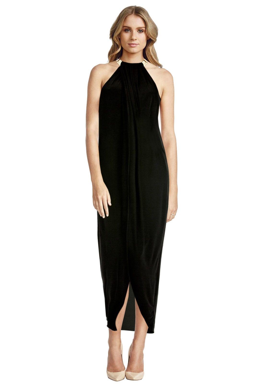 Langhem - Rianna Maxi Dress - Black - Front