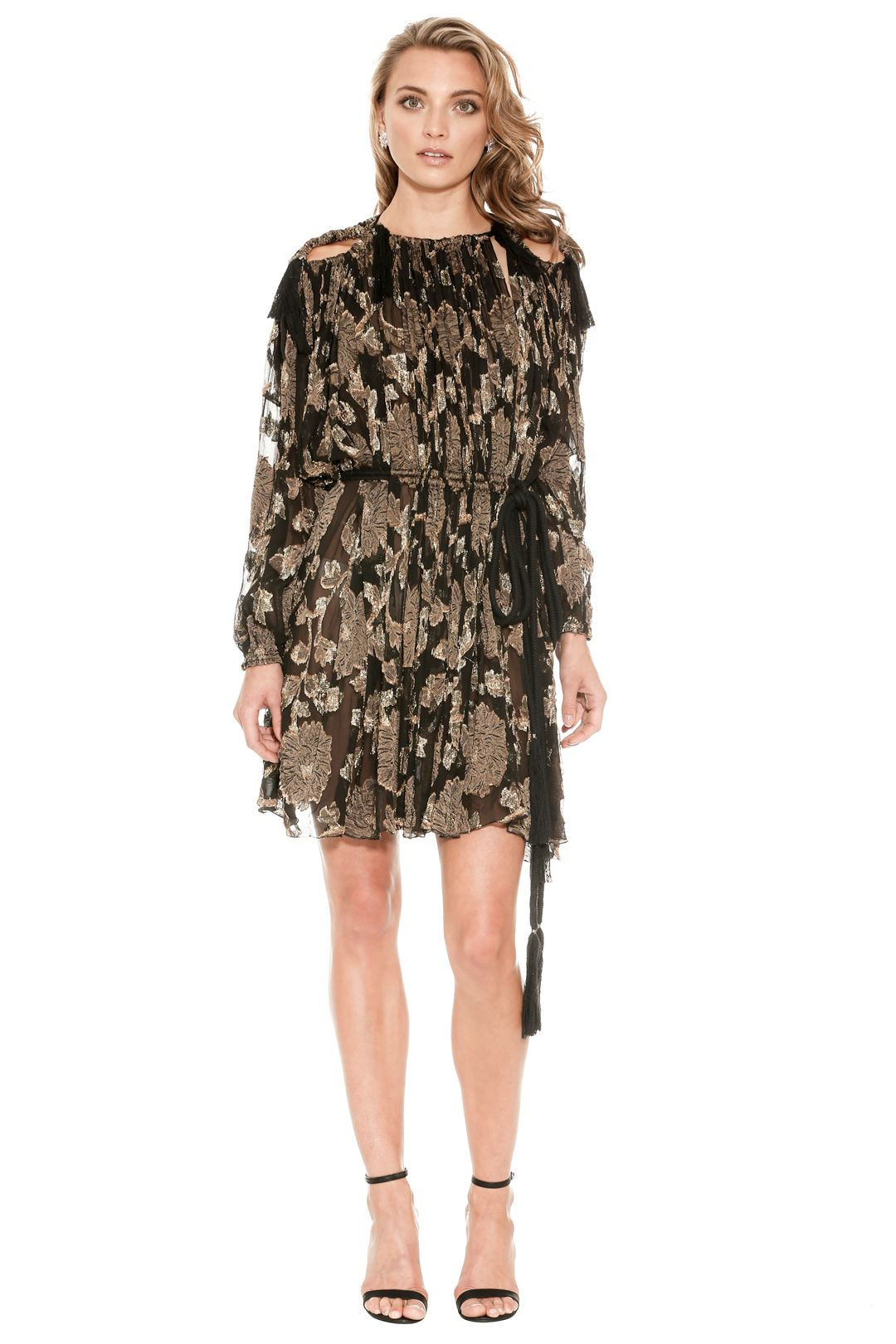 Lanvin - Embroidered Silk Mini Dress - Front