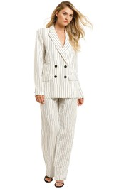 Laquintane-Double-Breasted-Jacket-and-High-Waisted-Pant-Set-Front