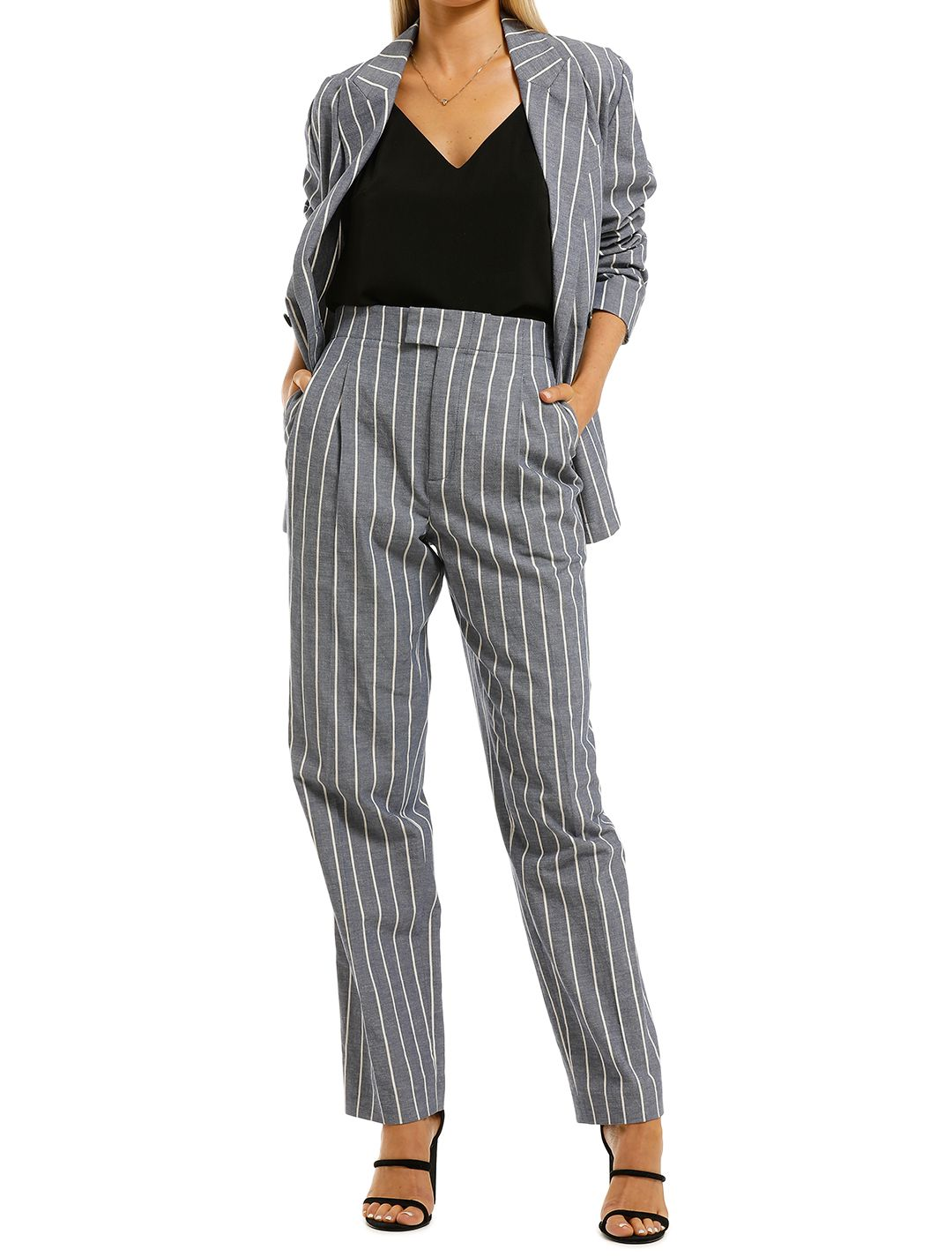 Laquintane-Double-Breasted-Jacket-and-Pant-Set-Indigo-Stripe-Front