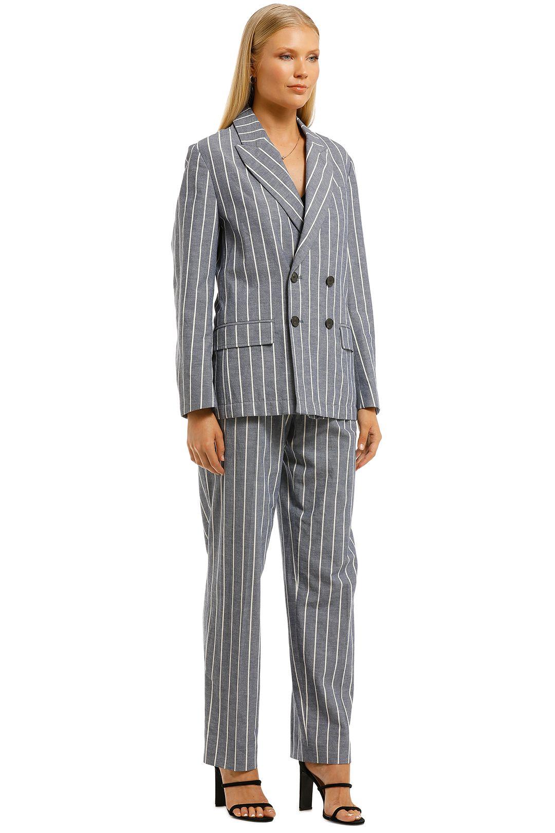 Laquintane-Double-Breasted-Jacket-and-Pant-Set-Indigo-Stripe-Side