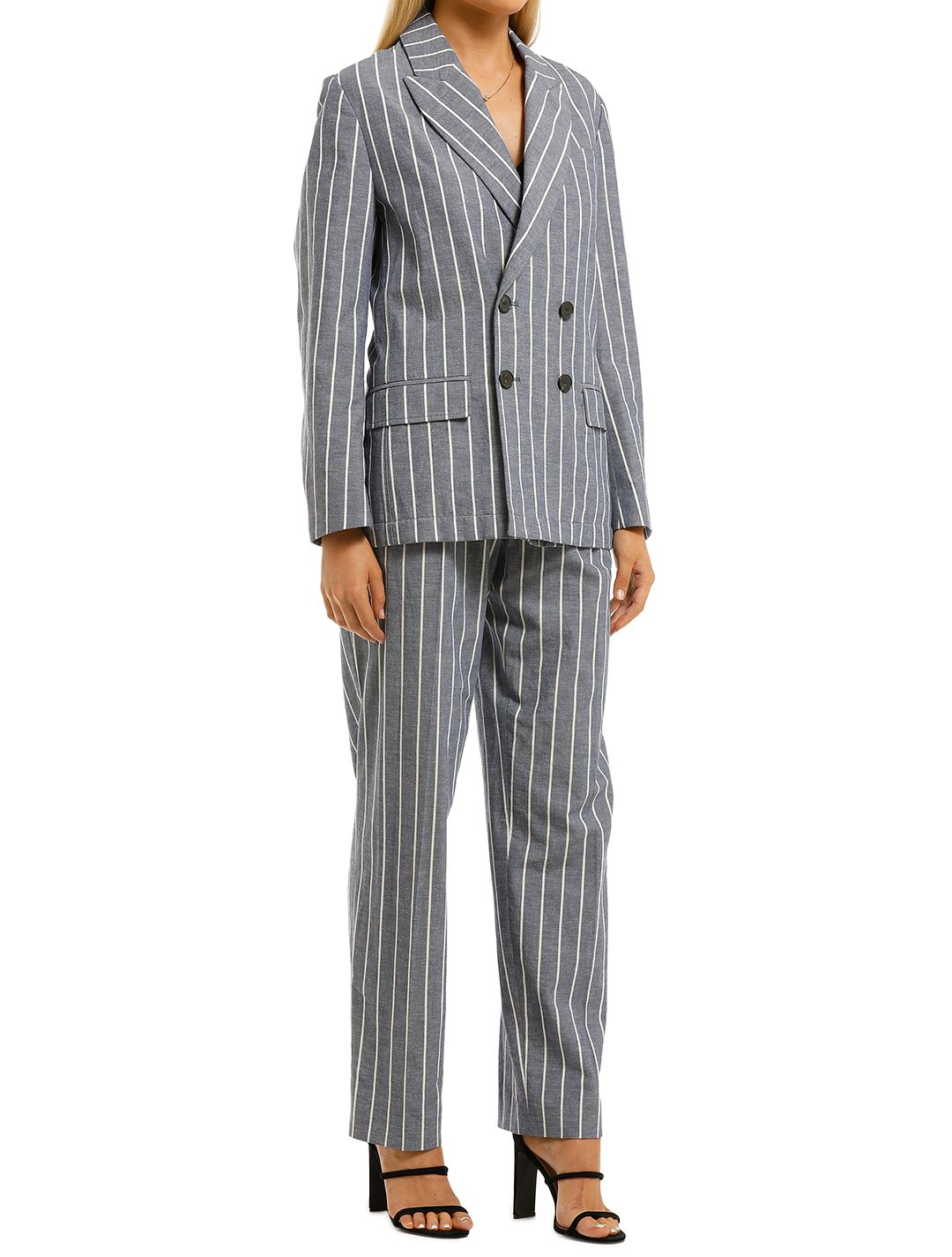 Laquintane-Double-Breasted-Jacket-and-Pant-Set-Indigo-Stripe-Side