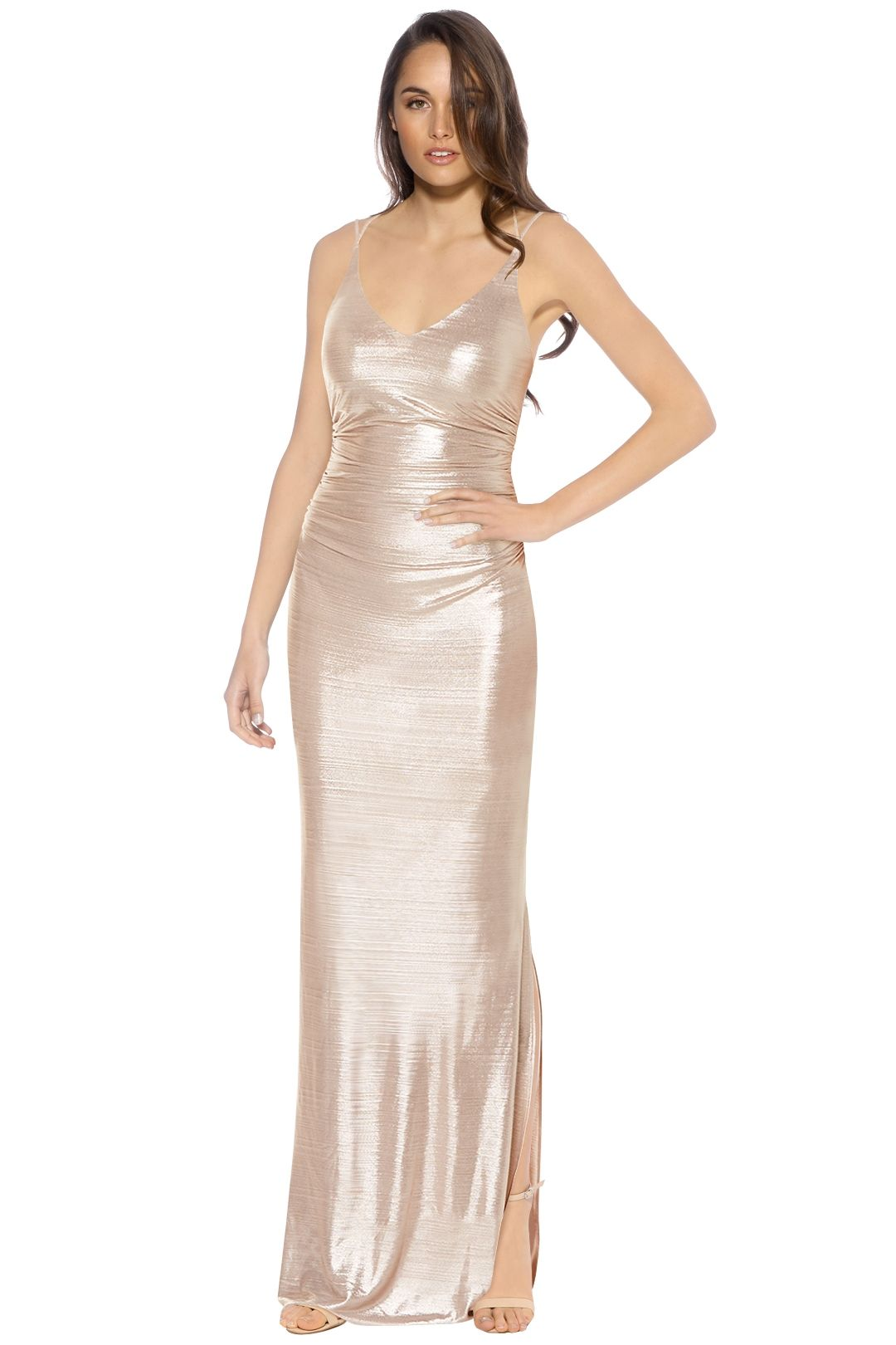 Laundry by Shelli Segal - Foil Knit Gown - Blush - Front