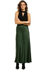 Lee-Mathews-Tamara-Bias-Skirt-Green-Front