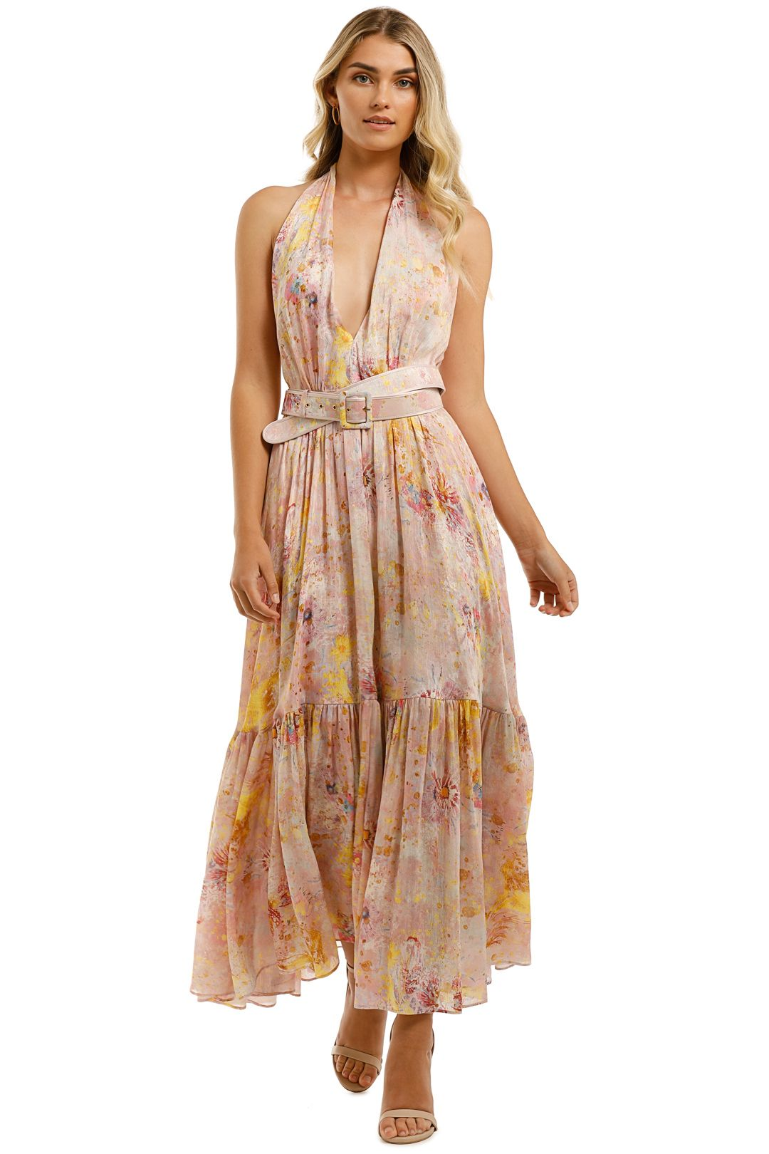 Leo-and-Lin-Adoration-Silk-Linen-Dress-Blush-Front