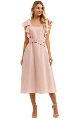 Leo-and-Lin-Amour-Ruffled-Sleeve-Dress-Blush-Front