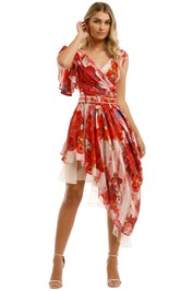 Leo-and-Lin-Blossom-Silk-Linen-Dress-Red-Floral-Front