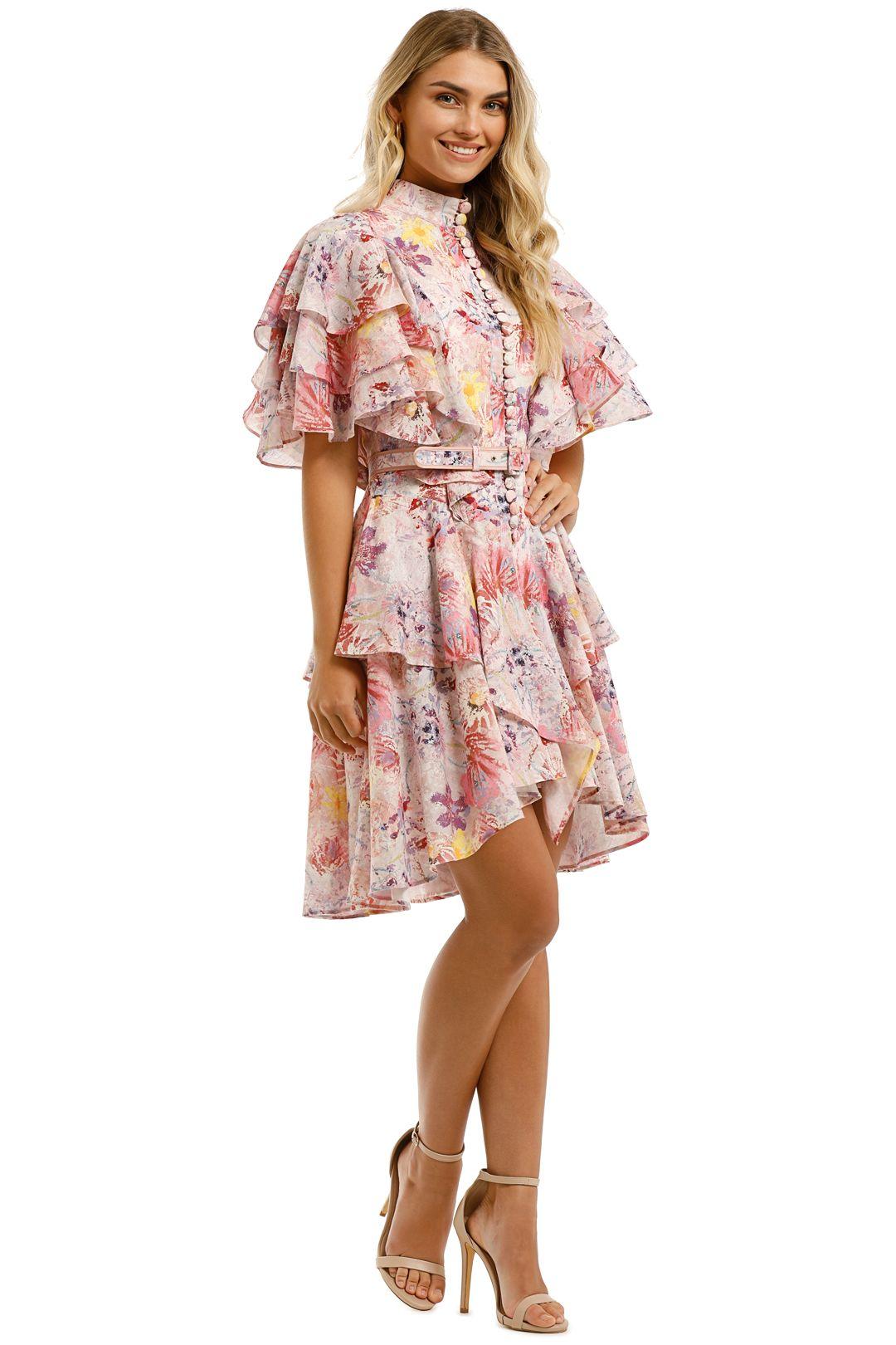 Leo-and-Lin-Euphoria-Cotton-Linen-Ruffled-Mini-Dress-Blush-Side