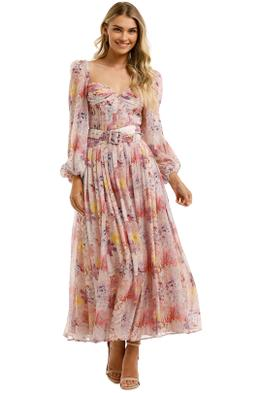 Leo-and-Lin-Euphoria-Silk-Chiffon-Dress-Blush-Front