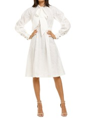 Leo-and-Lin-Serenity-Lace-Shirt-Dress-White-Front