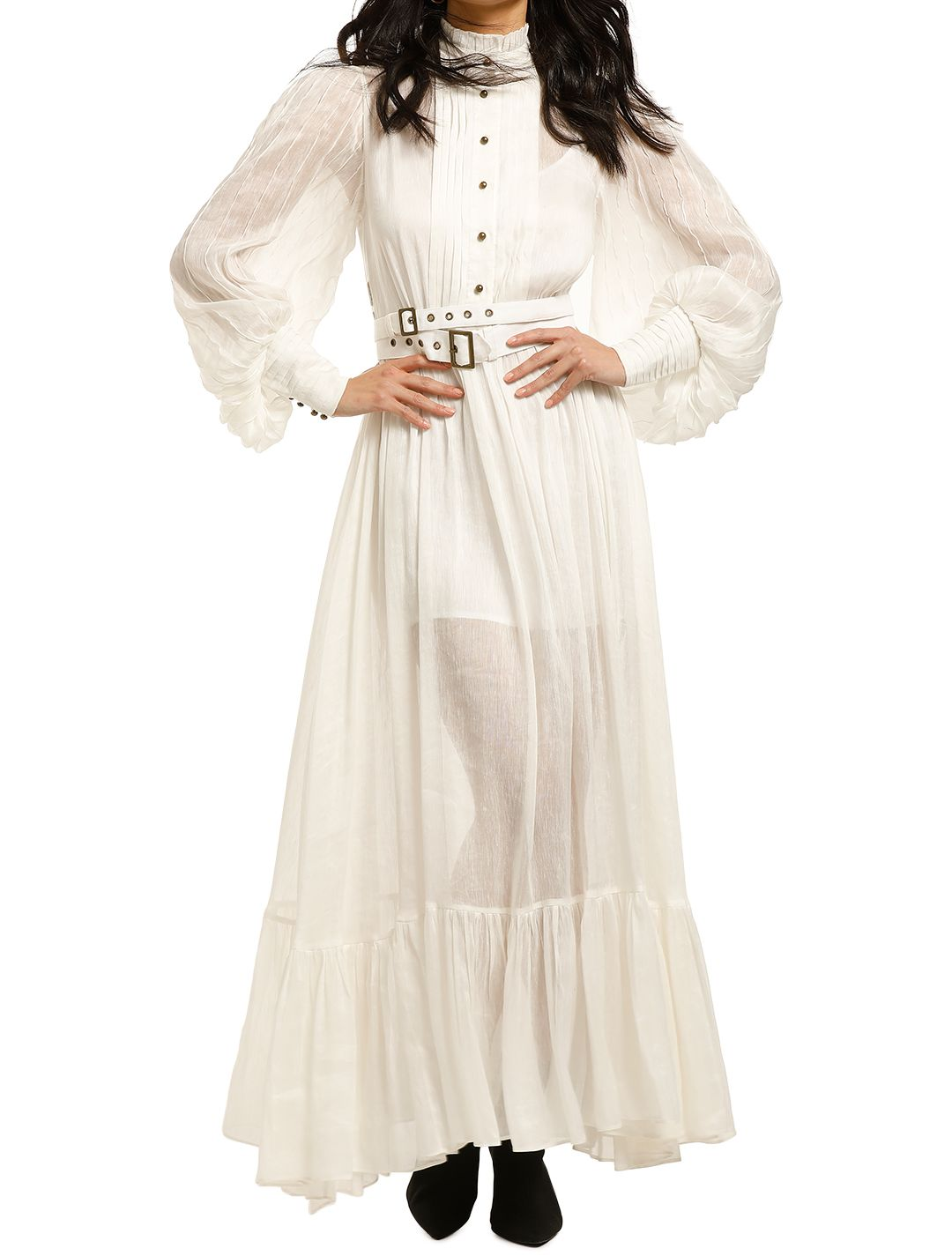 Leo-and-Lin-Serenity-Linen-Dress-White-Front