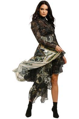 Leo-and-Lin-Starry-Night-Asymmetrical-Silk-Linen-Dress-Front