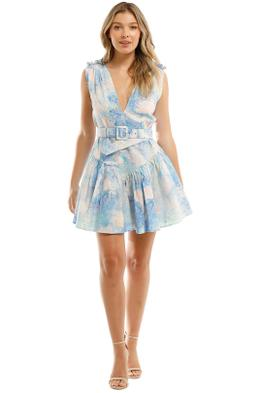 Leo and Lin Oceania Cotton Linen Mini Dress Print