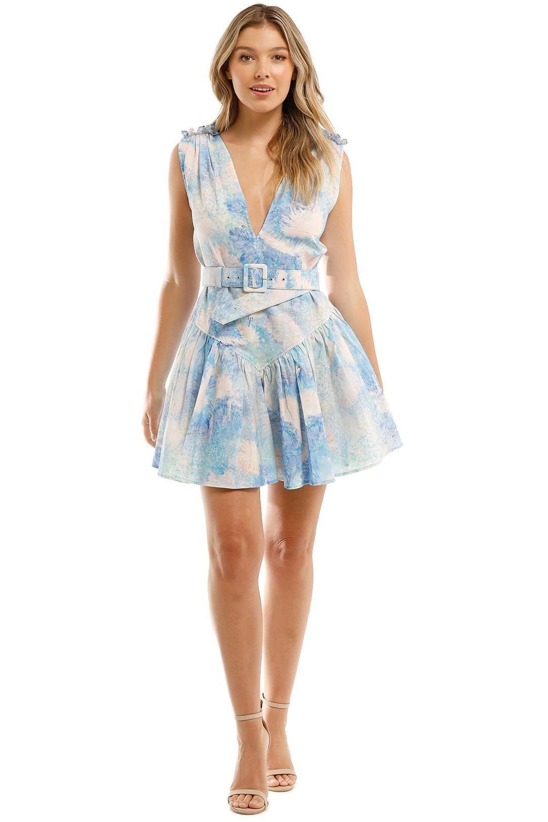 Leo and Lin Oceania Cotton Linen Mini Dress Print