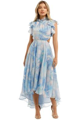 Leo and Lin Oceania Silk Chiffon Dress Print