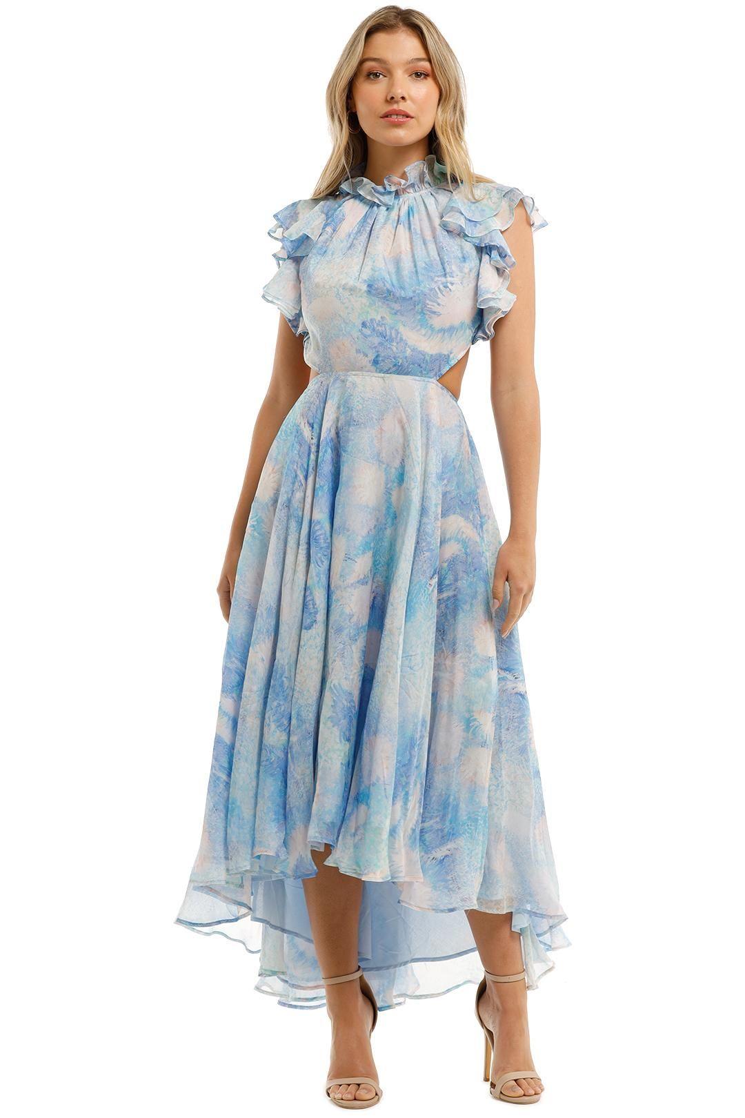 Leo and Lin Oceania Silk Chiffon Dress Print