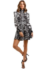 LEO & LIN Animalia Night Short Dress Black