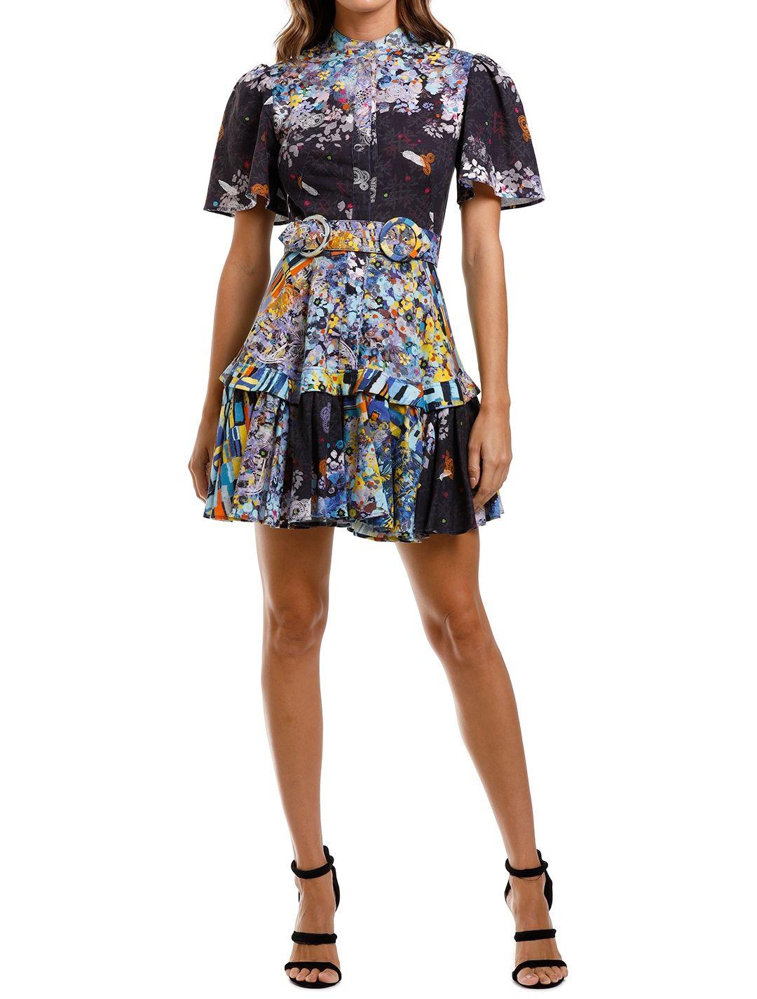 LEO & LIN Flower Garden Short Dress Navy