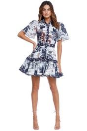 LEO LIN La Casa Linen Mini Dress ruffle