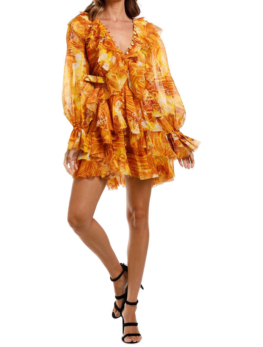 LEO & LIN The Kiss Ruffle Dress Yellow long sleeve