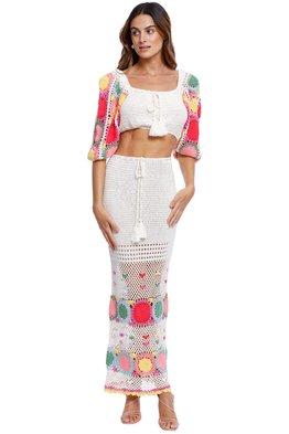 SPELL - Let The Sunshine In Crochet Top And Skirt Set - Rainbow