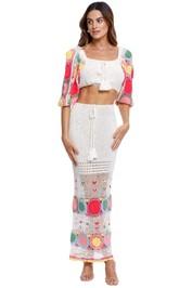Let the Sunshine in Crochet Top and Skirt Set tassel