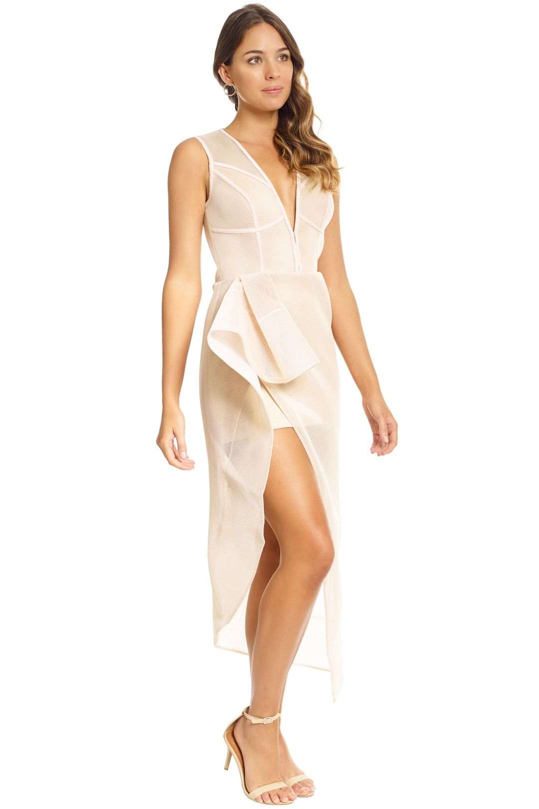 Lexi - Prana Dress - Champagne - Side