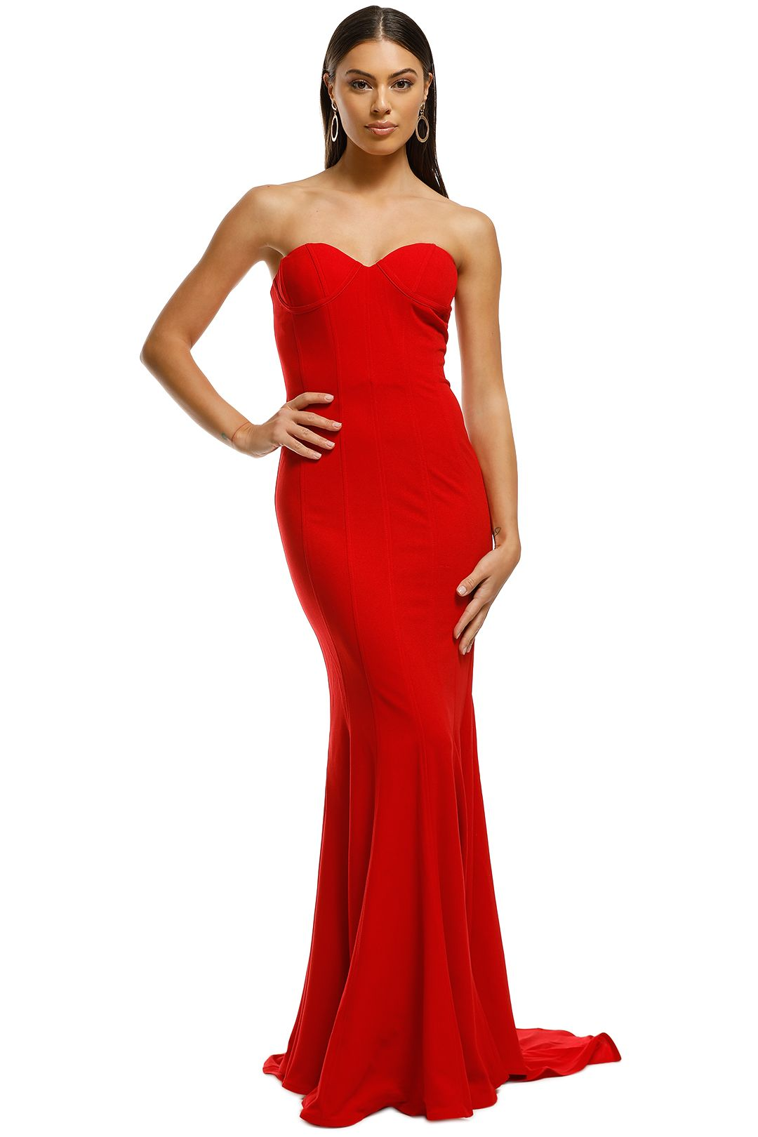 Lexi - Sahar Dress - Red - Front