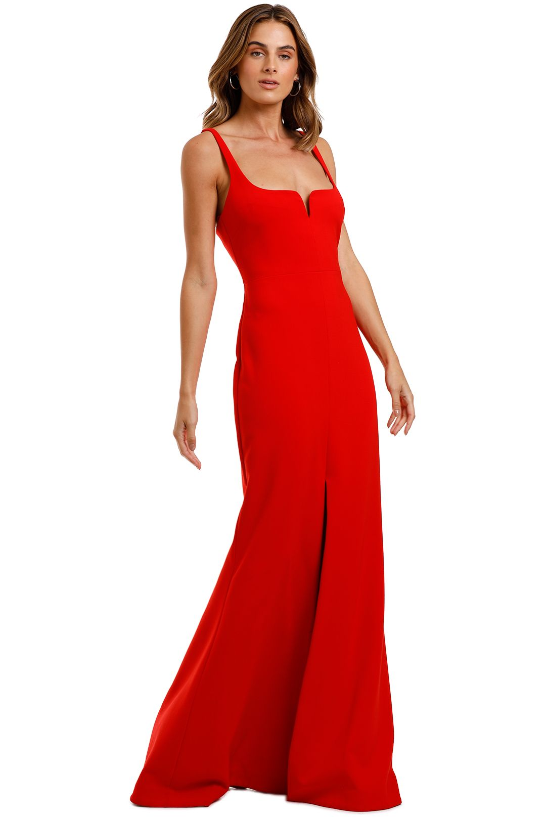 Likely NYC Constance Gown Scarlet Floor Length