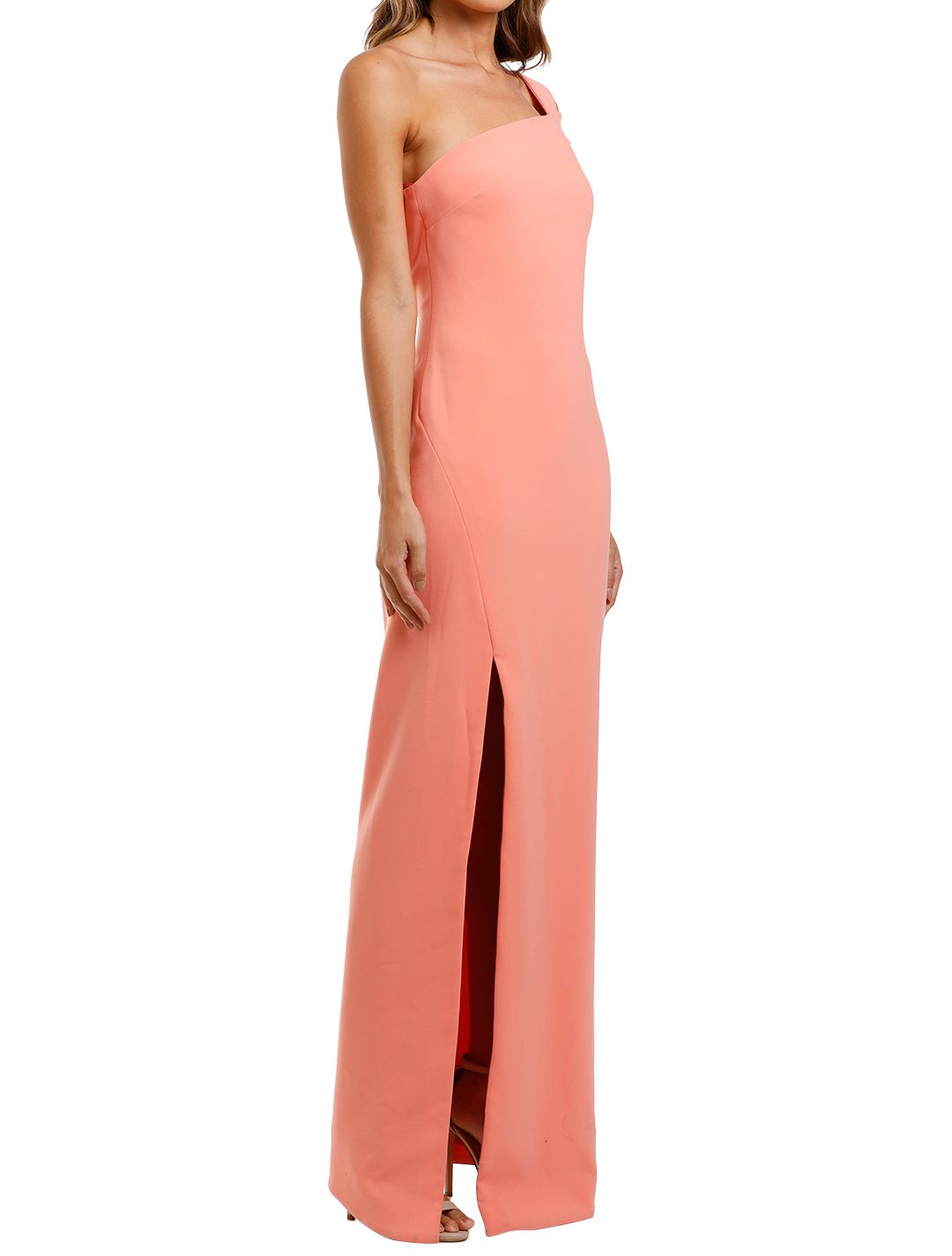 Likely NYC Maxson Gown Apricot Side Split