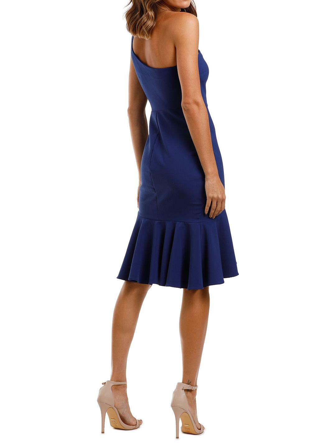 Likely NYC Rollins Dress Blue Ruffle